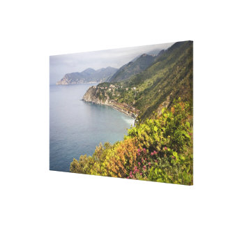 Italy. Coastal hiking area between the villages Gallery Wrapped Canvas