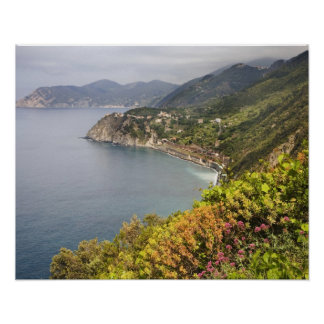 Italy. Coastal hiking area between the villages Poster