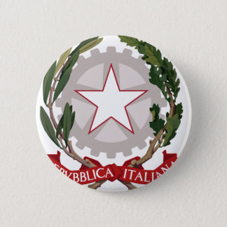 Italy coat of arms 6 cm round badge