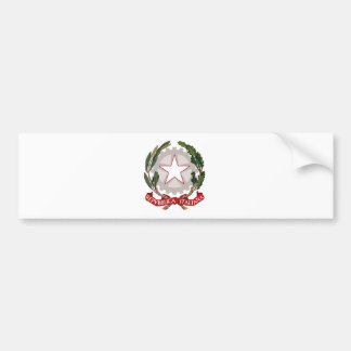 Italy coat of arms bumper sticker