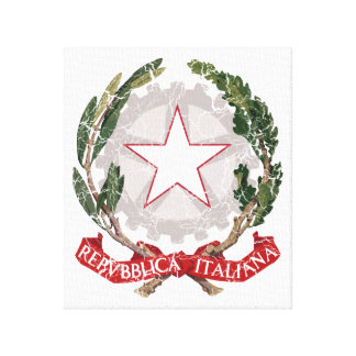Italy Coat Of Arms Canvas Prints