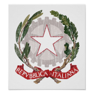 Italy Coat Of Arms Posters