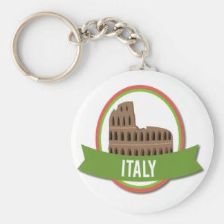 Italy Coliseum Rome Basic Round Button Key Ring