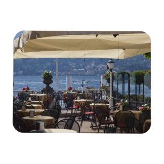 Italy, Como Province, Bellagio. Lakeside cafe. Rectangular Photo Magnet