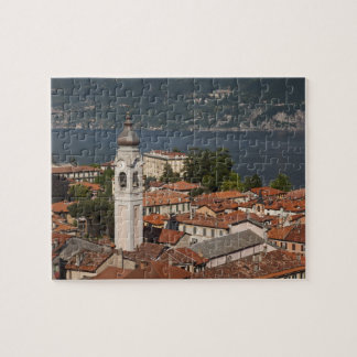 Italy, Como Province, Menaggio. Town view and 2 Jigsaw Puzzle
