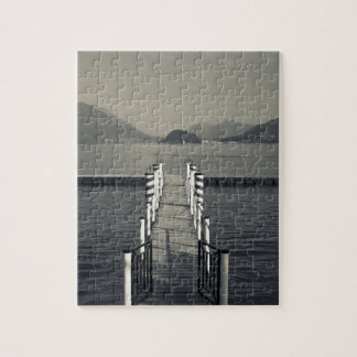 Italy, Como Province, Tremezzo. Lake pier. Jigsaw Puzzle