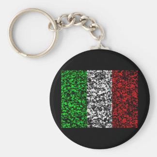 Italy - Flag Basic Round Button Key Ring