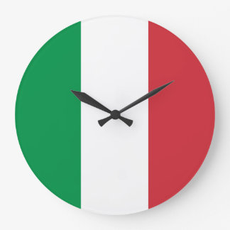 Italy Flag Large Clock