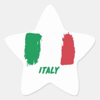 Italy flag design star sticker