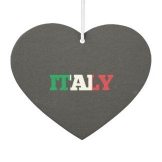 Italy flag font car air freshener