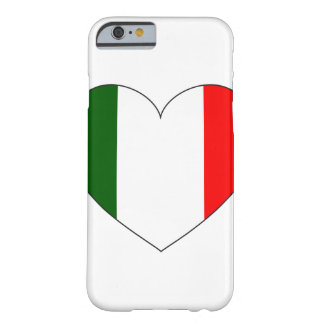 Italy Flag Heart Barely There iPhone 6 Case