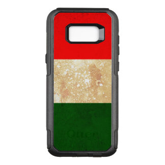 Italy Flag in Grunge OtterBox Commuter Samsung Galaxy S8+ Case