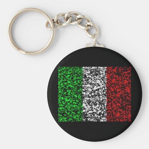 Italy - Flag Key Chain