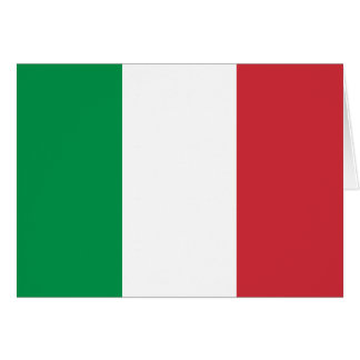Italy Flag Note Card