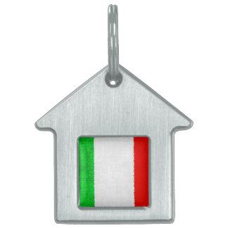 ITALY FLAG PET ID TAG