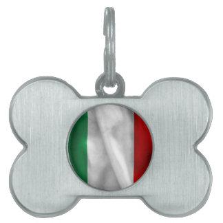 Italy Flag Pet Tag
