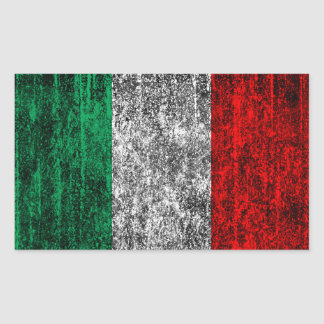 italy flag rectangular sticker
