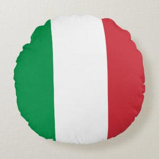 Italy Flag Round Cushion