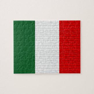 Italy Flag Snake Skin Jigsaw Puzzle