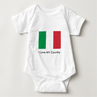 Italy Flag The MUSEUM Zazzle I Love MY Country Infant Creeper