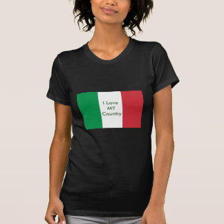 Italy Flag The MUSEUM Zazzle I Love MY Country T Shirt