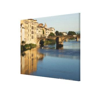 Italy, Florence, Bridge over River Arno Gallery Wrap Canvas