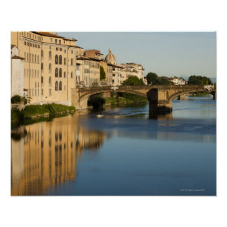 Italy, Florence, Bridge over River Arno Print