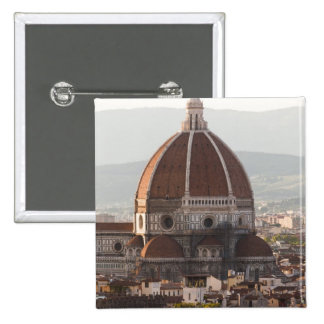 Italy, Florence, Dome of Duomo cathedral 15 Cm Square Badge