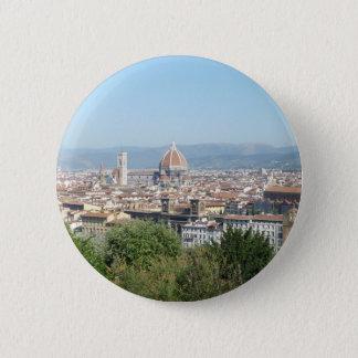 Italy Florence Duomo Michelangelo Square (New) 6 Cm Round Badge