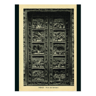 Italy, Florence, Firenze, 1908,, Bapistry doors Postcard