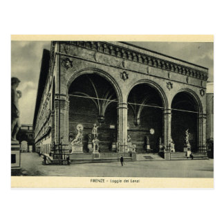 Italy, Florence, Firenze, 1908, Loggia dei Lanzi Postcard
