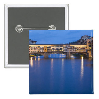 Italy, Florence, Night Reflections in the 15 Cm Square Badge