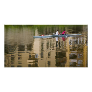 Italy, Florence, Rowing Sculls with 2 Print