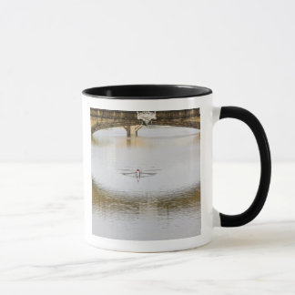 Italy, Florence, Rowing Sculls with Mug