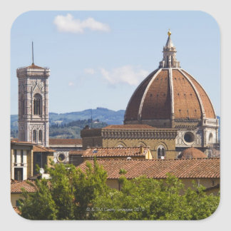 Italy, Florence, View of Florence Cathedral Square Sticker