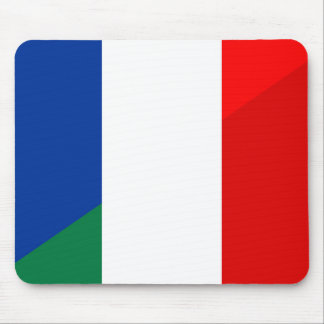 italy france flag country half symbol mouse pad