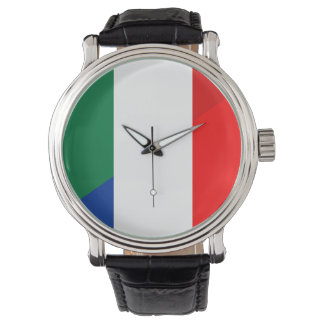 italy france flag country half symbol watch
