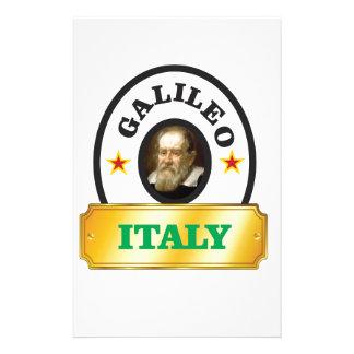 italy galileo personalised stationery