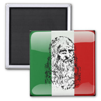Italy glossy flag magnet