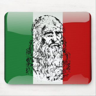 Italy glossy flag mouse pad