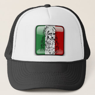Italy glossy flag trucker hat