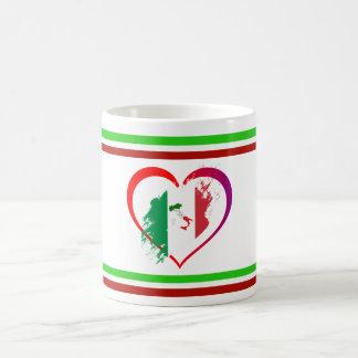 Italy heart coffee mug