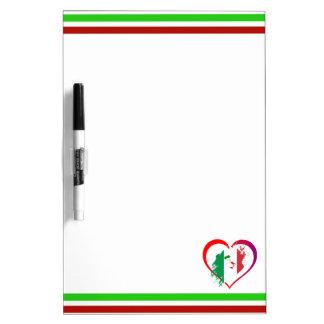 Italy heart dry erase board