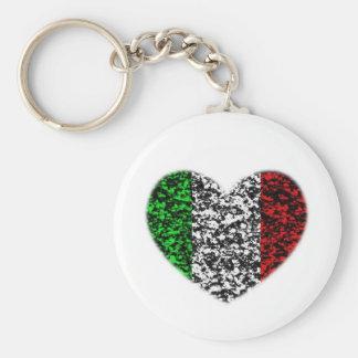 Italy Heart Key Ring