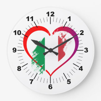 Italy heart large clock