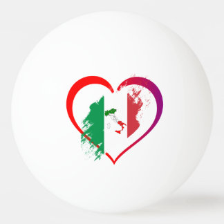 Italy heart ping pong ball