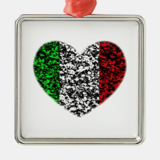 Italy Heart Silver-Colored Square Decoration