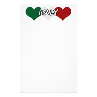 Italy Heart Stationery Paper