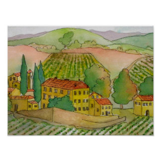 Italy, In Chianti, Dievole Winery Poster