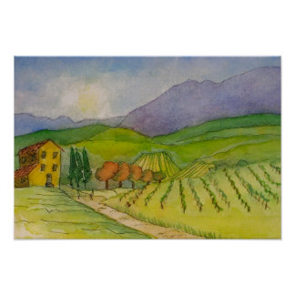 Italy, In Chianti, Little house in the Country Poster